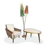 Vintage furniture illustration Stock Photography