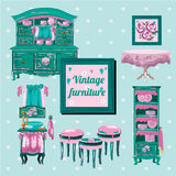 Vintage furniture, interior old object Royalty Free Stock Photos