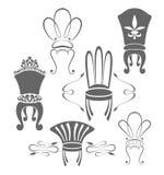 Vintage furniture symbols Stock Photos