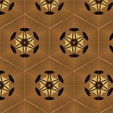 Vintage géométrique d'ornement abstrait de fond sans couture Image libre de droits