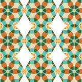 Vintage géométrique d'ornement abstrait de fond sans couture Image stock