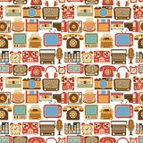 Vintage gadget seamless pattern Stock Photos