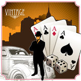 Vintage gambling background Royalty Free Stock Photo