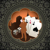 Vintage gambling background. Royalty Free Stock Photo