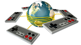 Vintage Gaming Competition Royalty Free Stock Image