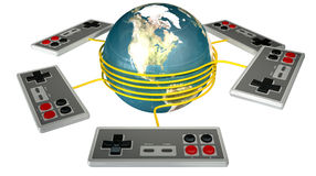 Vintage Gaming Competition Stock Photography