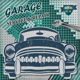 Vintage garage retro banner. The vintage garage retro banner Royalty Free Stock Photo