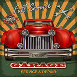 Vintage garage retro poster. The vintage garage retro poster Stock Images