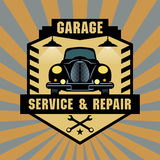 Vintage Garage sign Stock Photography