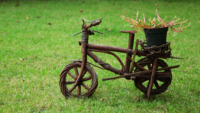 Vintage garden bicycle Royalty Free Stock Photo