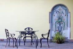 Vintage garden furniture Royalty Free Stock Image