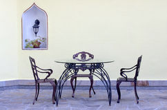 Vintage garden furniture Royalty Free Stock Photography