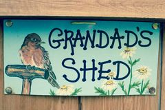 Vintage garden shed sign Royalty Free Stock Photography