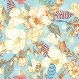 Vintage garden spring seamless pattern Royalty Free Stock Image
