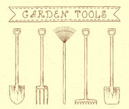 Vintage garden tools Royalty Free Stock Photography