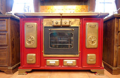 Vintage gas cooker Stock Photos