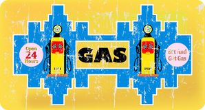 Vintage gas / fuel sign, Stock Images