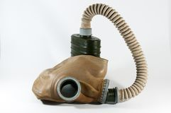 Vintage gas mask . Vintage gas mask on white royalty free stock photo