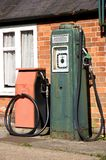 Vintage gas pump. Vintage gas (petrol) pump and station Royalty Free Stock Photography