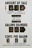 Vintage gas pump. Vintage US style gas pump Royalty Free Stock Image