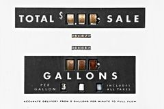 Vintage gas pump details Royalty Free Stock Images