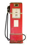 Vintage Gas Pump On White Royalty Free Stock Photography