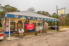 Vintage gas pump on US Highway 19,  Florida Stock Image