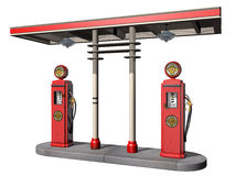 Vintage Gas Pumps. Isolated illustration of a weathered vintage gas pumps Stock Photos
