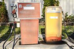 Vintage Gas Pumps Stock Photo