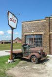 Vintage Gas Station, Antique Truck, Farm Royalty Free Stock Image