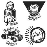 Vintage gas station emblems. Set of Vintage gas station emblems and design elements ,emblems,logo,labels Royalty Free Stock Photos