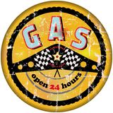 Vintage gas sign Stock Images