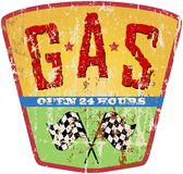 Vintage gas station sign Royalty Free Stock Images