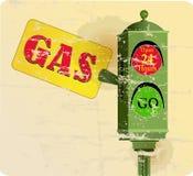 Vintage gas station sign Stock Images