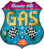 Vintage gas station sign Stock Photo