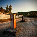 Vintage gas station stock photography