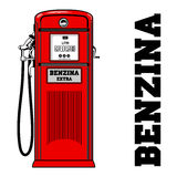 Vintage gas stations. Vector illustration of vintage gas stations. Retro gas stations. Oil, fueling petrol. Advertisements, brochures, business templates Royalty Free Stock Photography