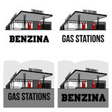 Vintage gas stations Stock Photo