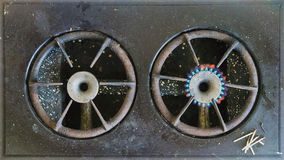 Vintage gas stove Stock Images