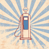 Vintage gasoline dispenser design Stock Photo