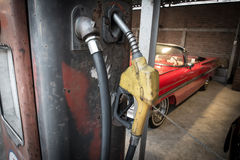 Vintage Gasoline fuel pump Stock Image