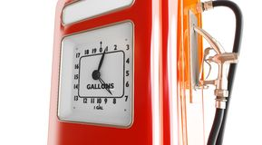 Vintage gasoline fuel pump Stock Images