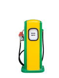 Vintage gasoline fuel pump dispenser isolated with clipping path Royalty Free Stock Photos
