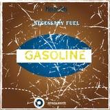 Vintage gasoline poster. With grunge effect Stock Image