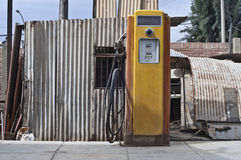 Vintage gasoline pump. In Tacna station, Peru royalty free stock image