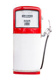 Vintage Gasoline Pump Isolated on white with clipping path Royalty Free Stock Images