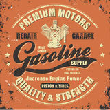 Vintage gasoline retro label Royalty Free Stock Photo