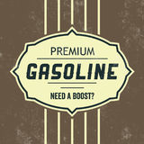 Vintage Gasoline Sign - Retro Template. With Grunge Texture Stock Image
