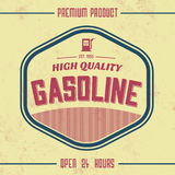 Vintage Gasoline Sign - Retro Template. With Grunge Texture Royalty Free Stock Image