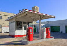 Vintage Gasoline Station Stock Photography